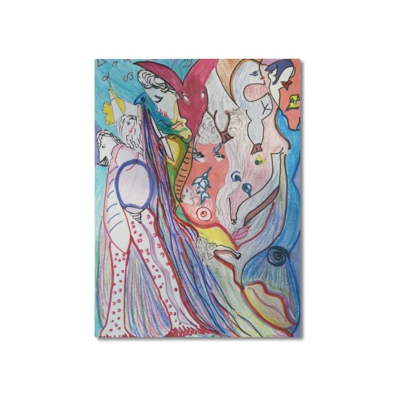 Kaleidoscope cast Home Mounted Aluminum Print by Darabem's Artist Shop. Darabem Collection