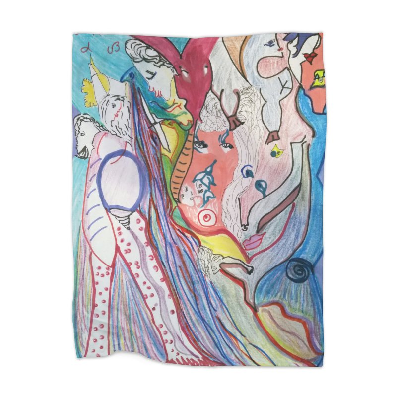 Kaleidoscope cast Home Blanket by Darabem's Artist Shop. Darabem Collection