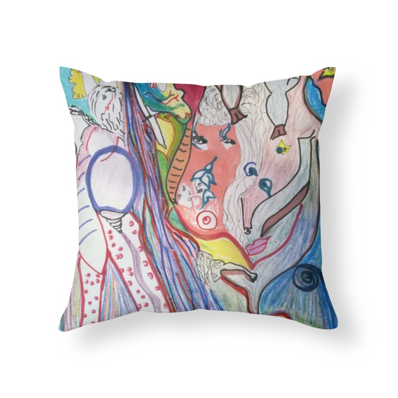 Kaleidoscope cast Home Throw Pillow by Darabem's Artist Shop. Darabem Collection
