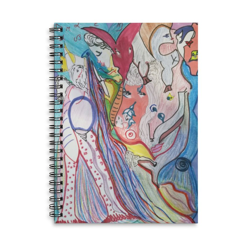 Kaleidoscope cast Accessories Lined Spiral Notebook by Darabem's Artist Shop. Darabem Collection