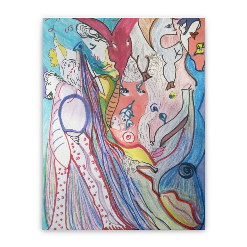 Kaleidoscope cast Home Stretched Canvas by Darabem's Artist Shop. Darabem Collection