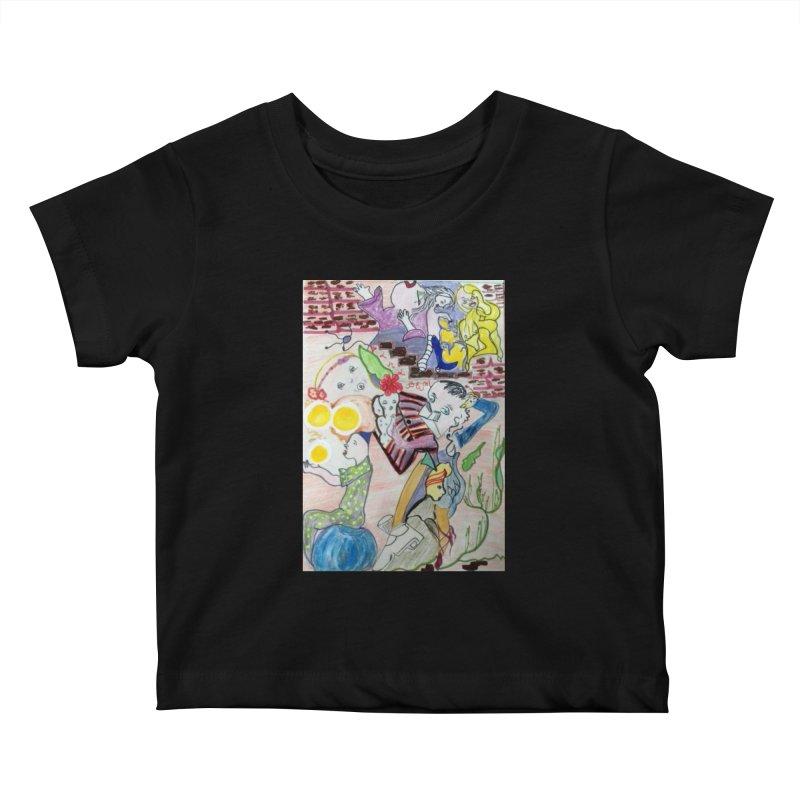 casting V. All of us Kids Baby T-Shirt by Darabem's Artist Shop. Darabem Collection