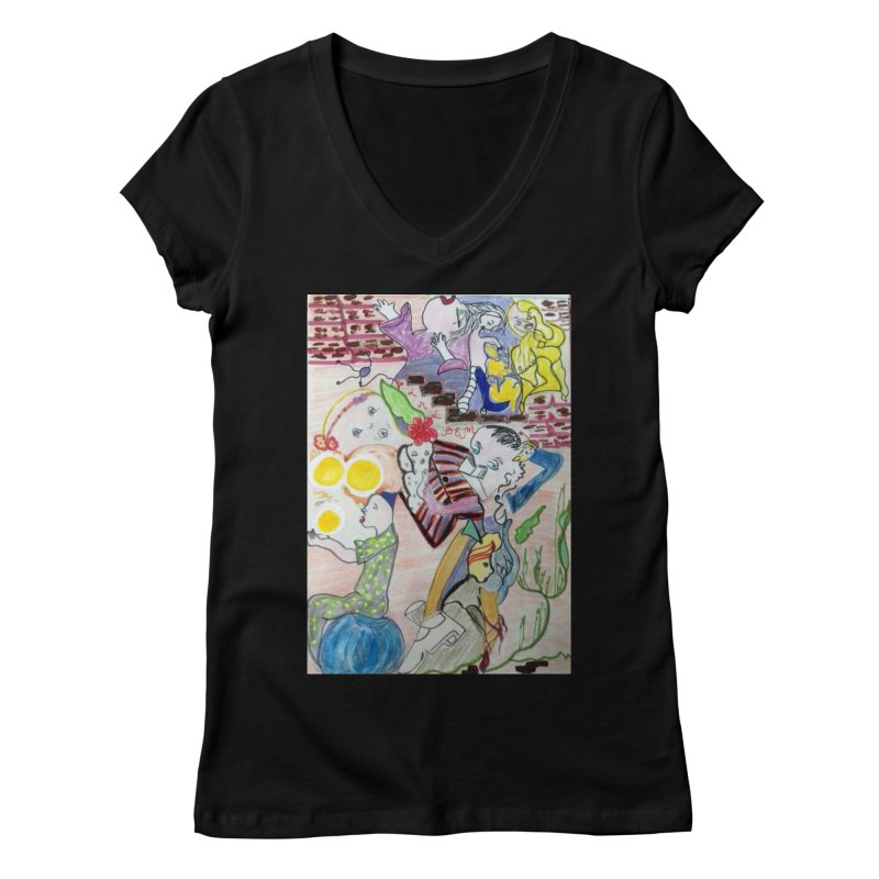 casting V. All of us Women's V-Neck by Darabem's Artist Shop. Darabem Collection