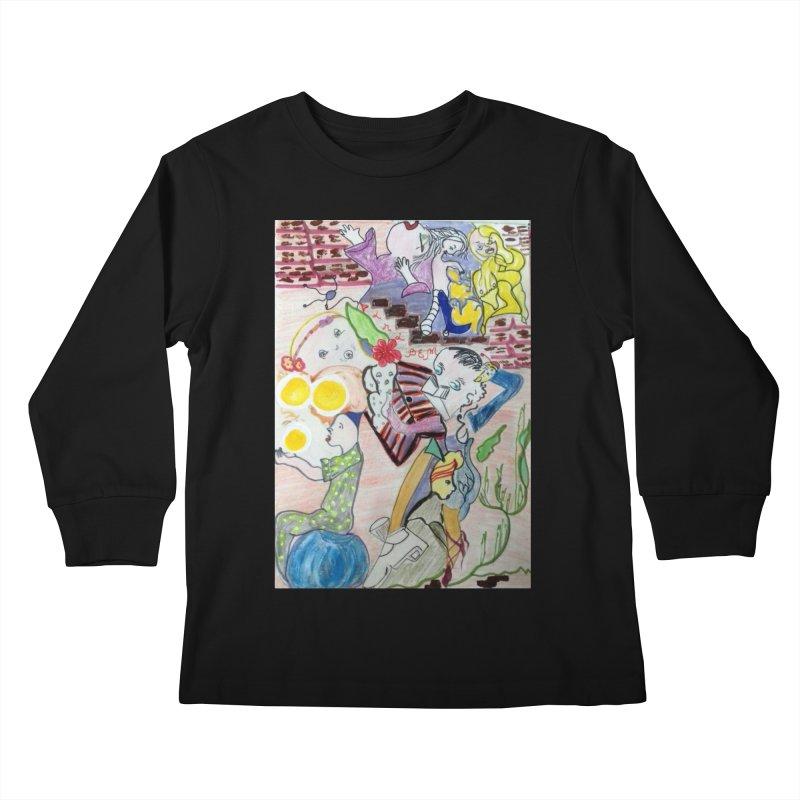 casting V. All of us Kids Longsleeve T-Shirt by Darabem's Artist Shop. Darabem Collection