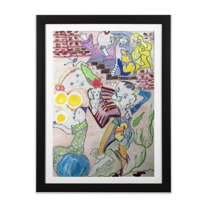 casting V. All of us Home Framed Fine Art Print by Darabem's Artist Shop. Darabem Collection