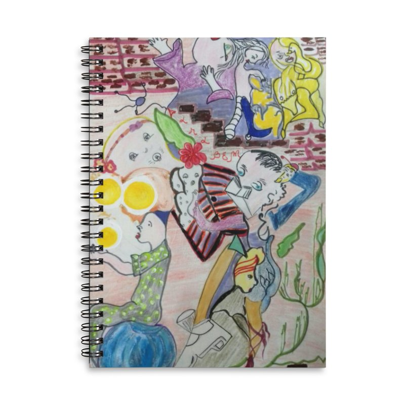 casting V. All of us Accessories Lined Spiral Notebook by Darabem's Artist Shop. Darabem Collection