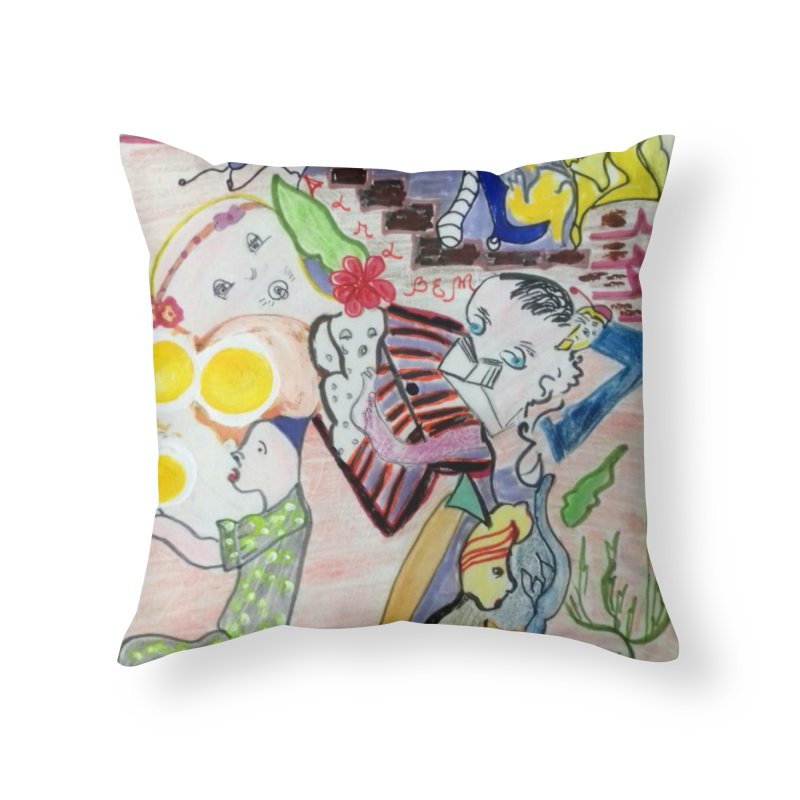 casting V. All of us Home Throw Pillow by Darabem's Artist Shop. Darabem Collection