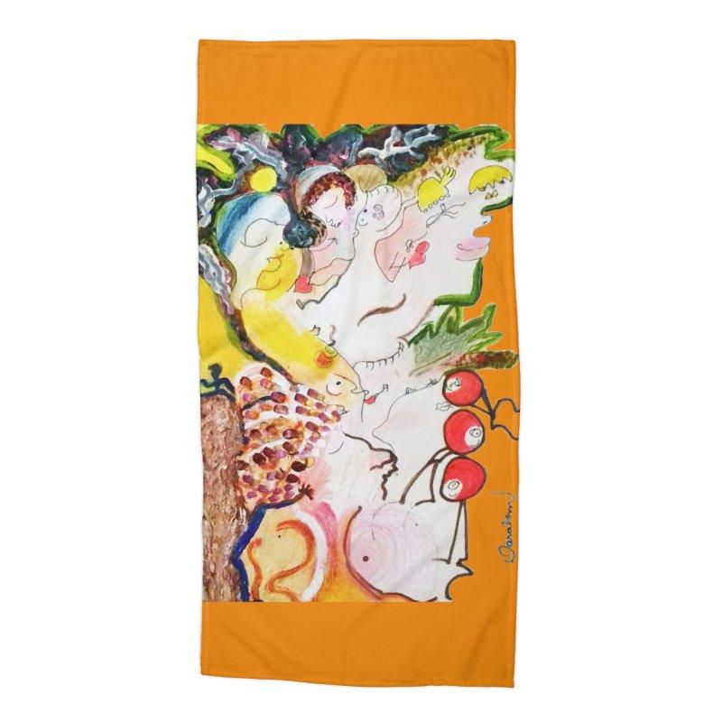 Autumns Accessories Beach Towel by Darabem's Artist Shop. Darabem Collection