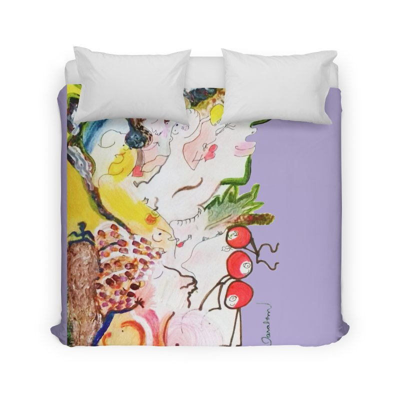 Autumns Home Duvet by Darabem's Artist Shop. Darabem Collection