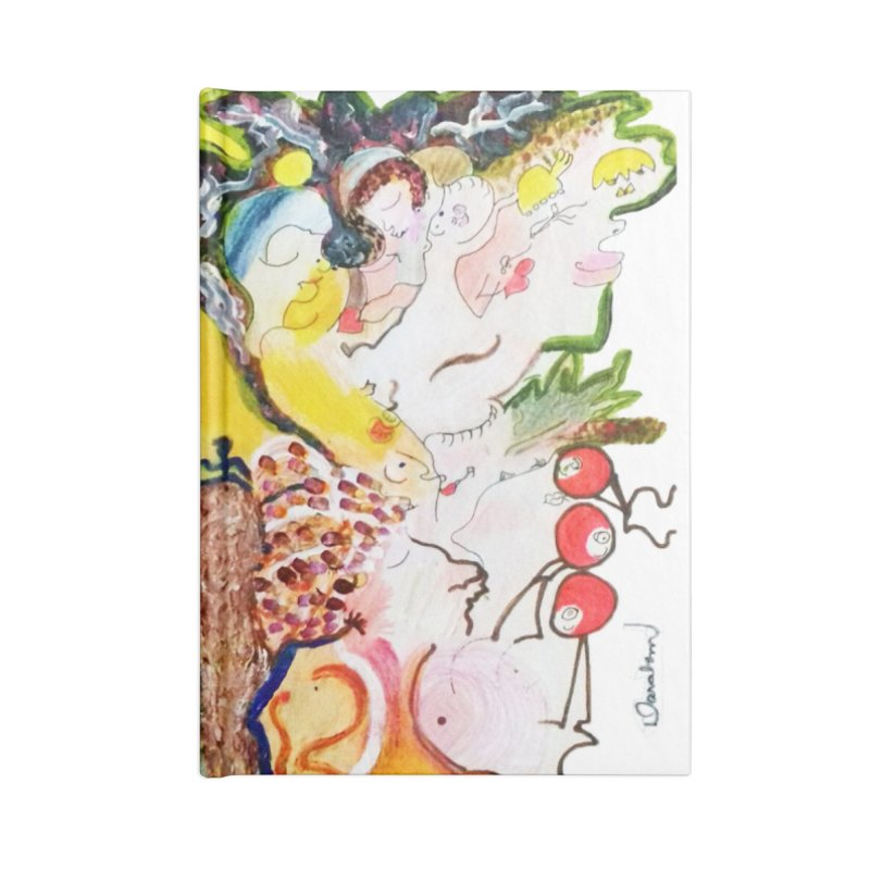 Autumns Accessories Lined Journal Notebook by Darabem's Artist Shop. Darabem Collection
