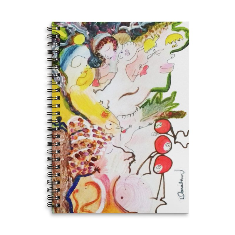Autumns Accessories Lined Spiral Notebook by Darabem's Artist Shop. Darabem Collection
