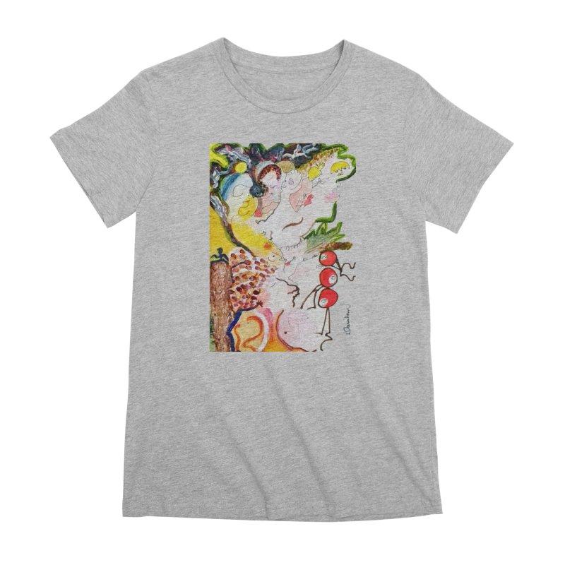 Autumns Women's Premium T-Shirt by Darabem's Artist Shop. Darabem Collection