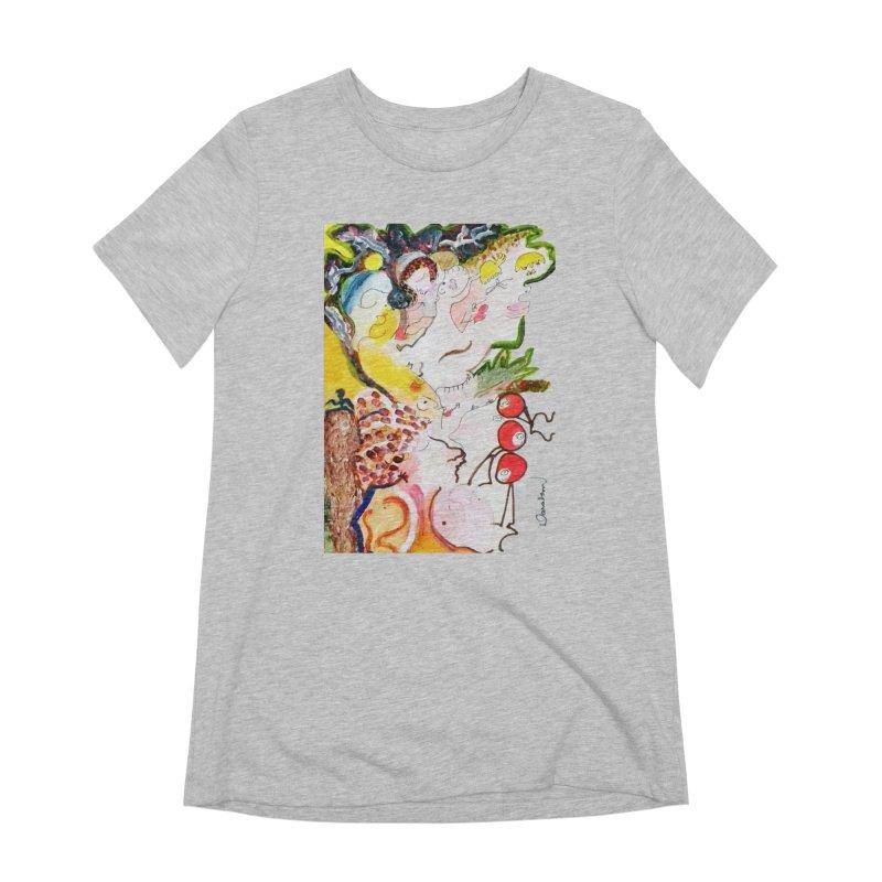 Autumns Women's Extra Soft T-Shirt by Darabem's Artist Shop. Darabem Collection