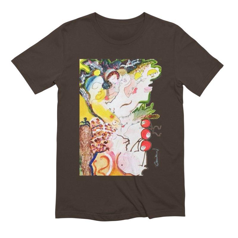 Autumns Men's Extra Soft T-Shirt by Darabem's Artist Shop. Darabem Collection