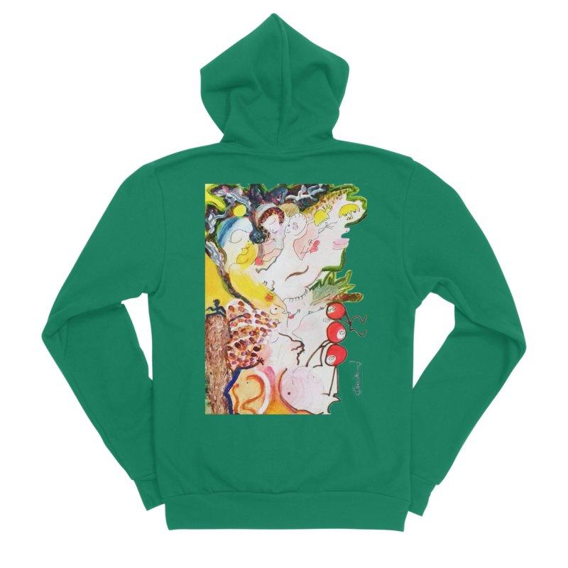 Autumns Men's Sponge Fleece Zip-Up Hoody by Darabem's Artist Shop. Darabem Collection