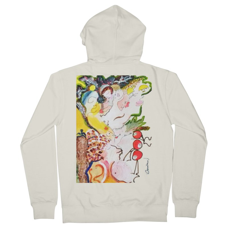 Autumns Women's French Terry Zip-Up Hoody by Darabem's Artist Shop. Darabem Collection