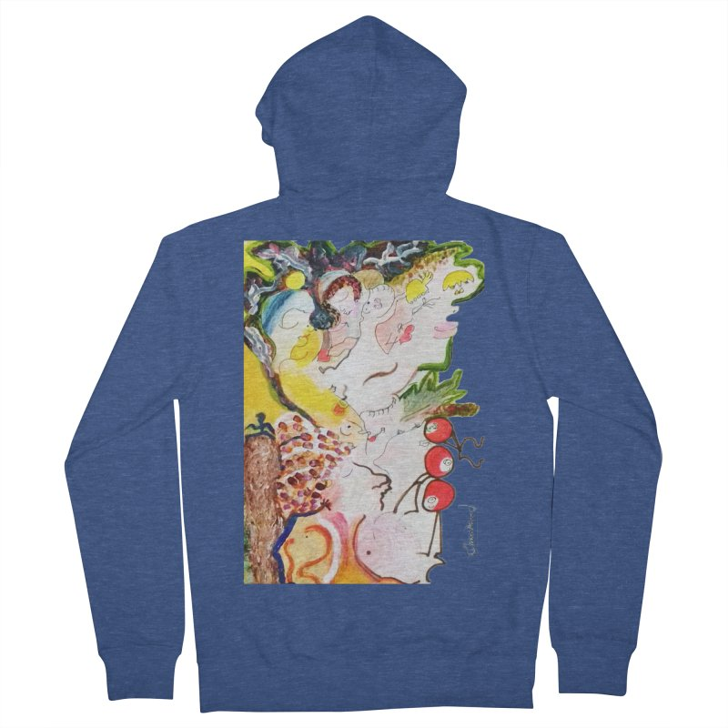 Autumns Men's French Terry Zip-Up Hoody by Darabem's Artist Shop. Darabem Collection