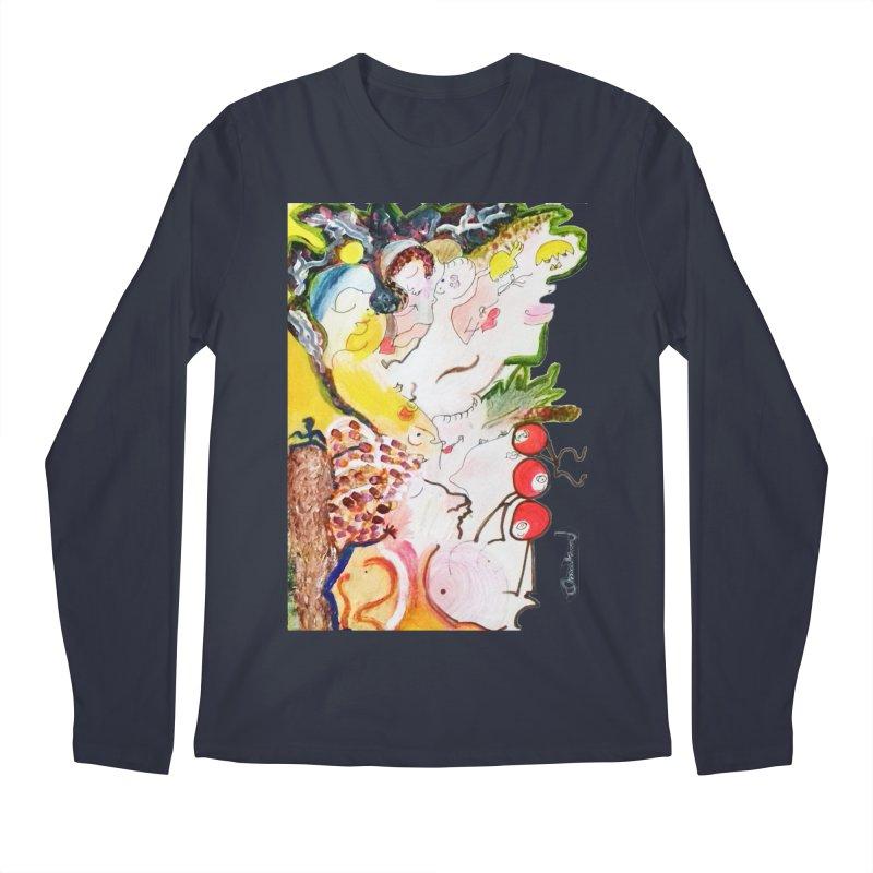Autumns Men's Regular Longsleeve T-Shirt by Darabem's Artist Shop. Darabem Collection