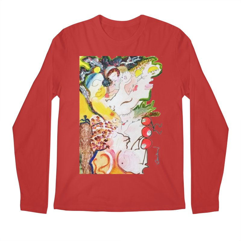 Autumns Men's Regular Longsleeve T-Shirt by Darabem's Artist Shop. Darabem Collection