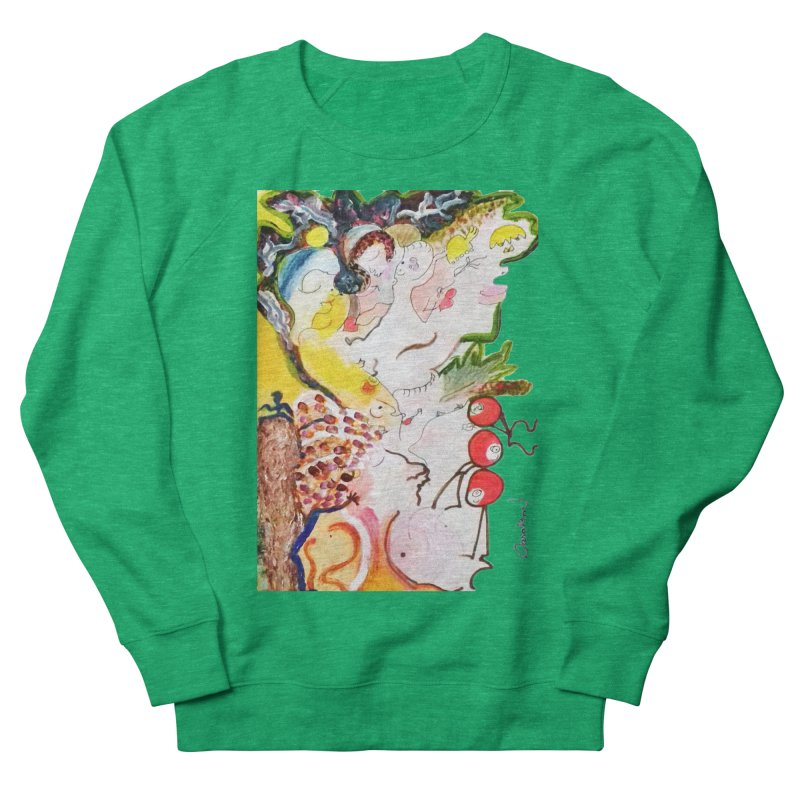 Autumns Men's French Terry Sweatshirt by Darabem's Artist Shop. Darabem Collection