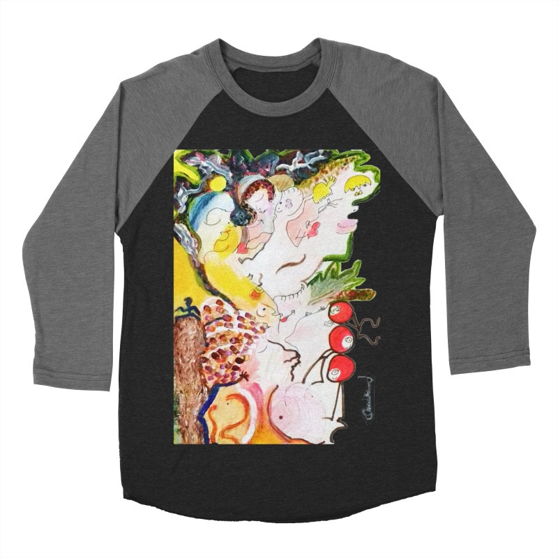Autumns Women's Baseball Triblend Longsleeve T-Shirt by Darabem's Artist Shop. Darabem Collection