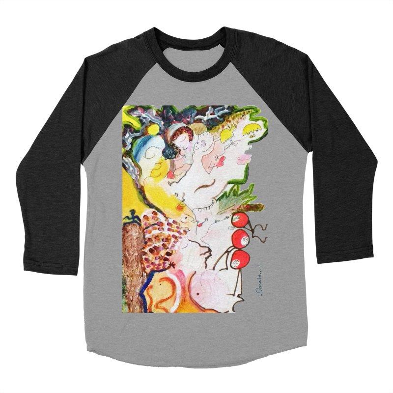 Autumns Women's Baseball Triblend Longsleeve T-Shirt by Darabem's Artist Shop. Darabem Collection