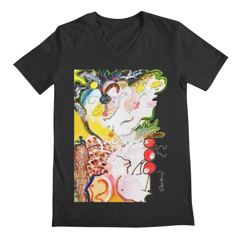 Autumns Men's Regular V-Neck by Darabem's Artist Shop. Darabem Collection
