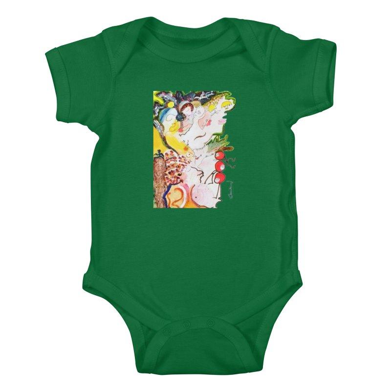 Autumns Kids Baby Bodysuit by Darabem's Artist Shop. Darabem Collection