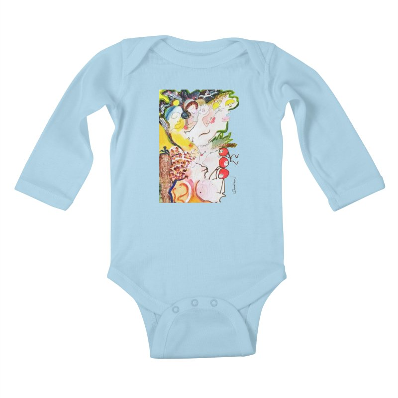 Autumns Kids Baby Longsleeve Bodysuit by Darabem's Artist Shop. Darabem Collection