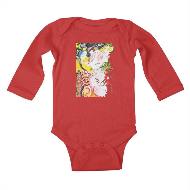 Autumns Kids Baby Longsleeve Bodysuit by Darabem's Artist Shop. Darabem Collection