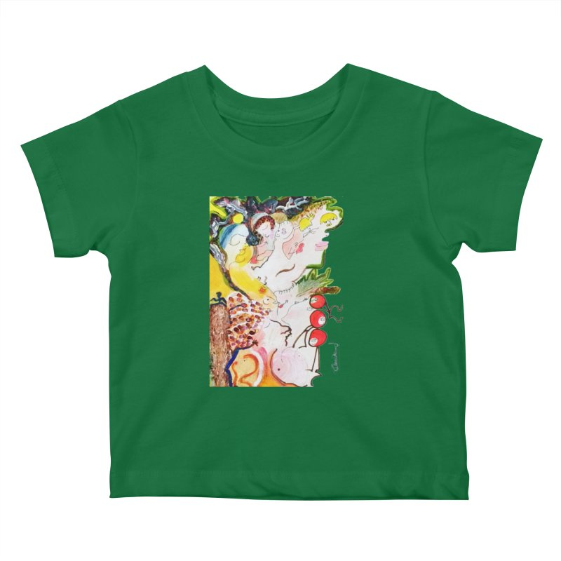 Autumns Kids Baby T-Shirt by Darabem's Artist Shop. Darabem Collection