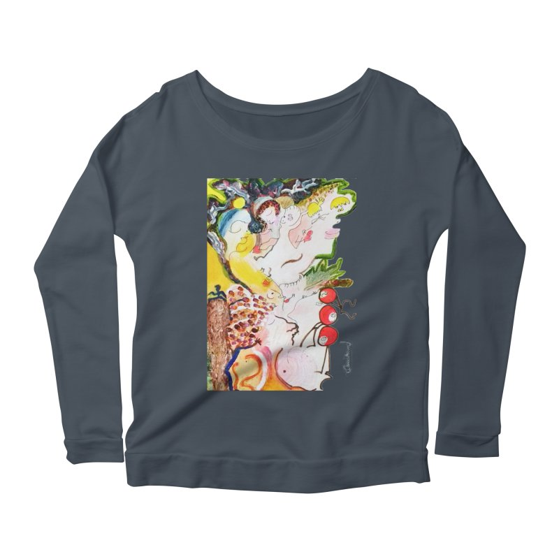 Autumns Women's Scoop Neck Longsleeve T-Shirt by Darabem's Artist Shop. Darabem Collection