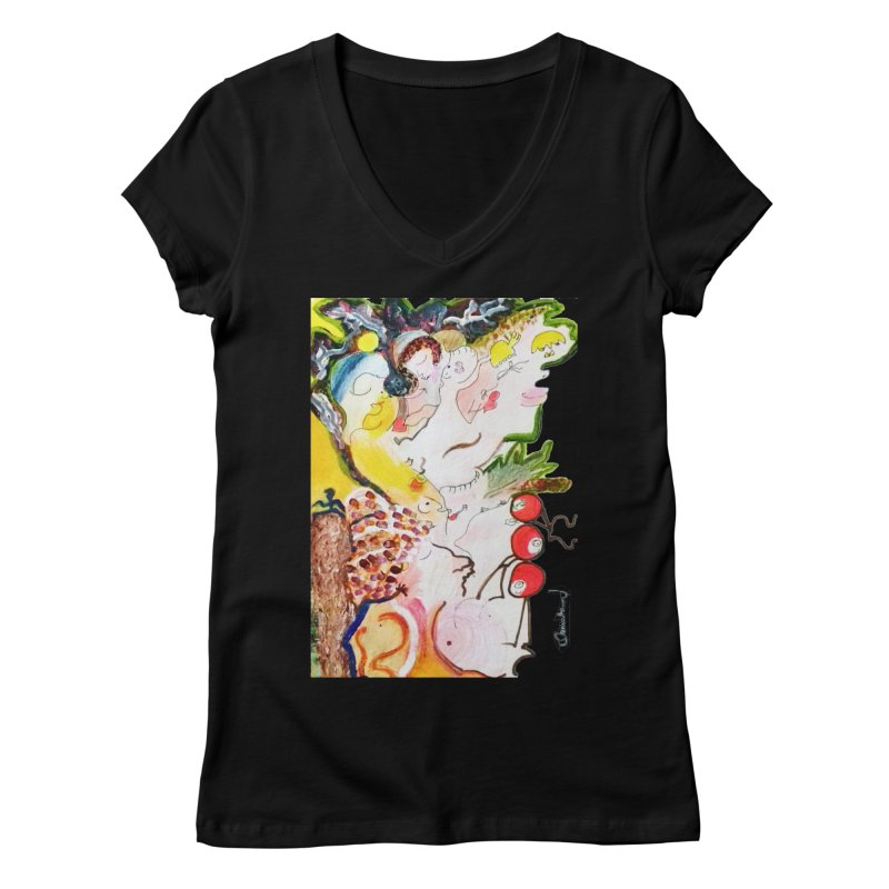 Autumns Women's V-Neck by Darabem's Artist Shop. Darabem Collection