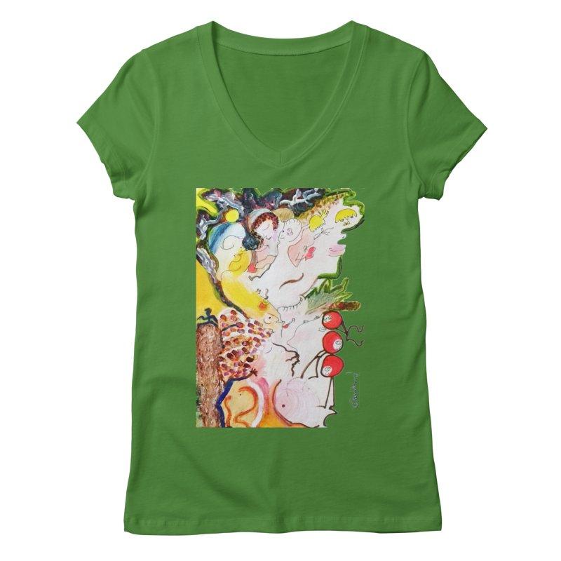 Autumns Women's V-Neck by Darabem's Artist Shop. Darabem Collection