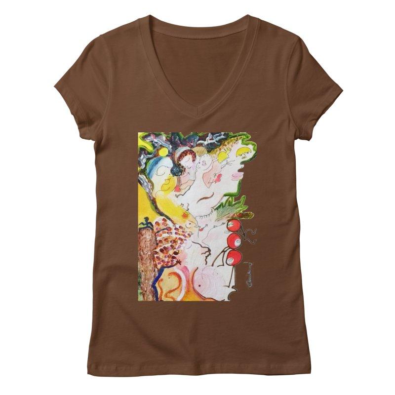 Autumns Women's Regular V-Neck by Darabem's Artist Shop. Darabem Collection