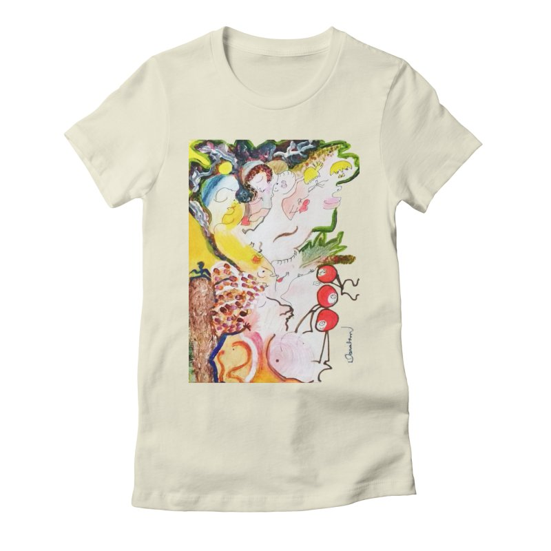 Autumns Women's Fitted T-Shirt by Darabem's Artist Shop. Darabem Collection