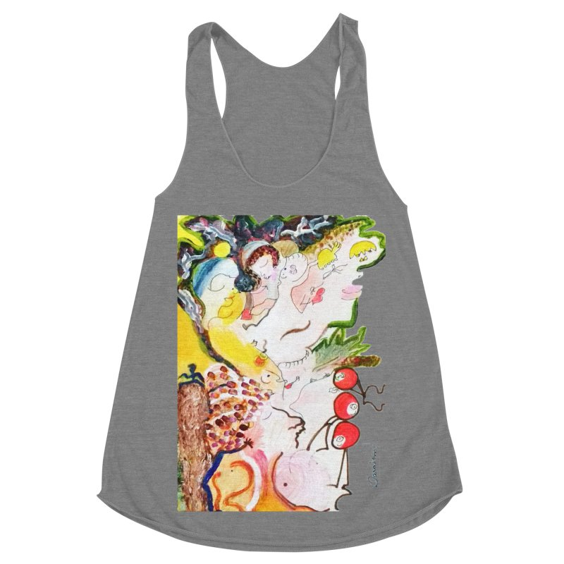 Autumns Women's Racerback Triblend Tank by Darabem's Artist Shop. Darabem Collection