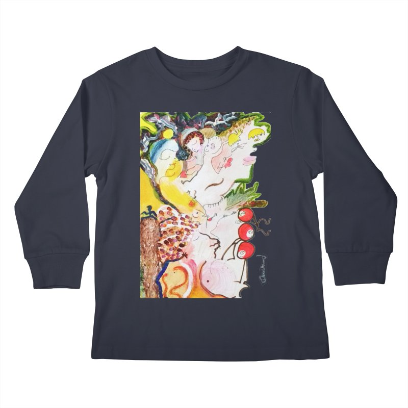 Autumns Kids Longsleeve T-Shirt by Darabem's Artist Shop. Darabem Collection