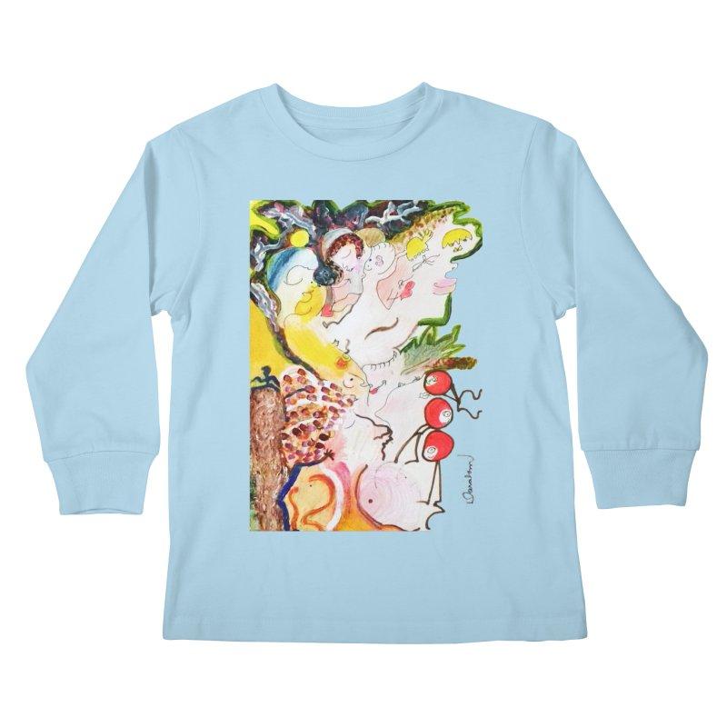 Autumns Kids Longsleeve T-Shirt by Darabem's Artist Shop. Darabem Collection