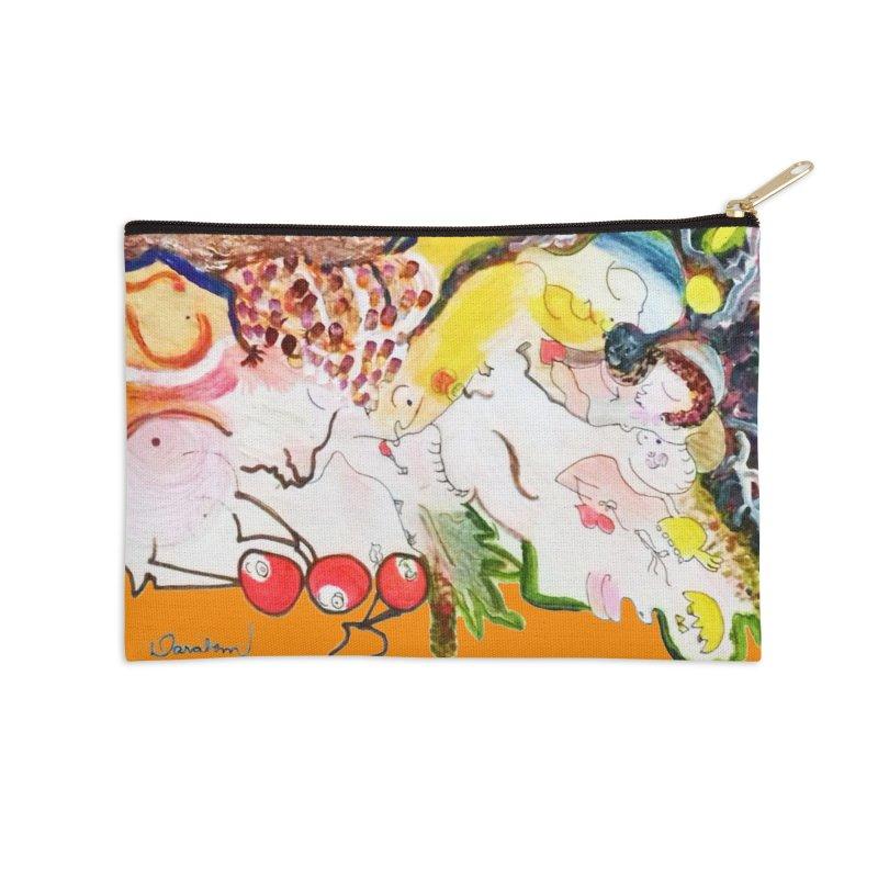 Autumns Accessories Zip Pouch by Darabem's Artist Shop. Darabem Collection