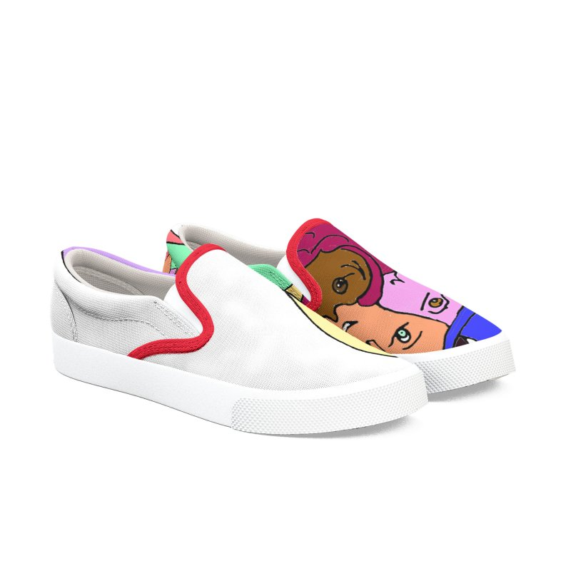 Family Christmas Men's Slip-On Shoes by Darabem's Artist Shop. Darabem Collection