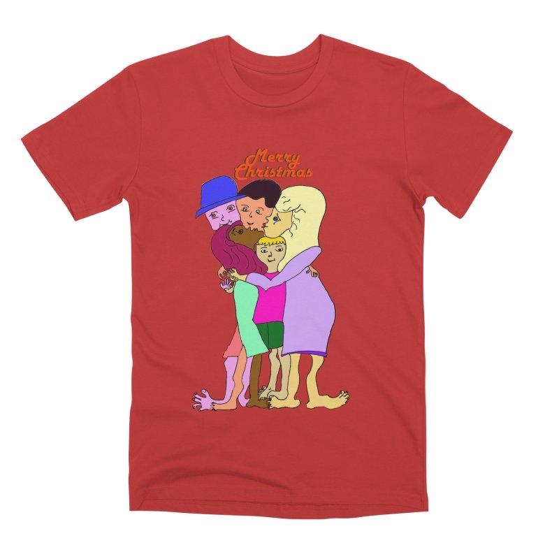 Family Christmas Men's Premium T-Shirt by Darabem's Artist Shop. Darabem Collection