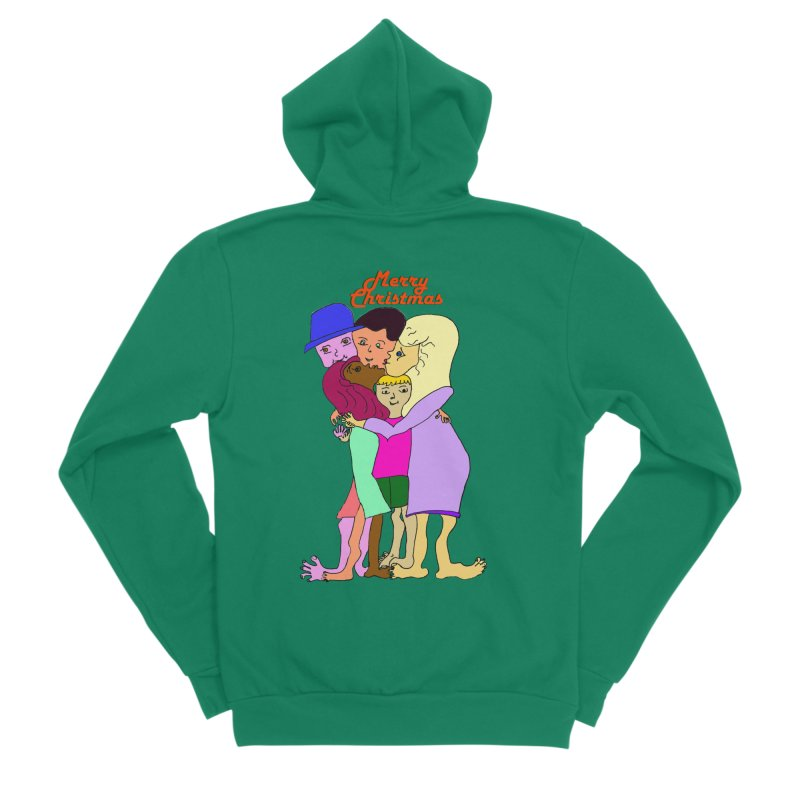 Family Christmas Men's Sponge Fleece Zip-Up Hoody by Darabem's Artist Shop. Darabem Collection