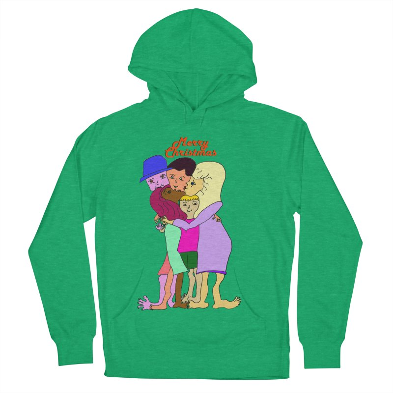 Family Christmas Men's French Terry Pullover Hoody by Darabem's Artist Shop. Darabem Collection