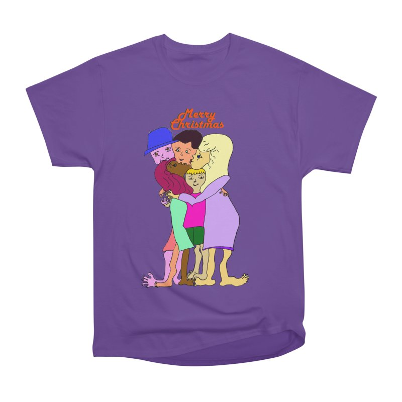 Family Christmas Women's Heavyweight Unisex T-Shirt by Darabem's Artist Shop. Darabem Collection