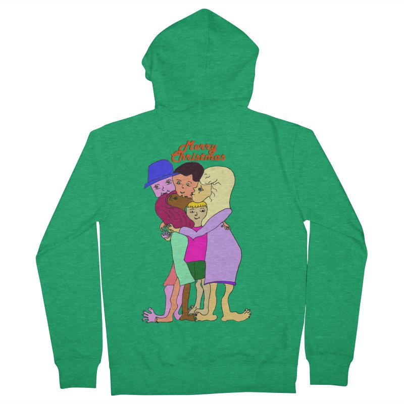 Family Christmas Men's Zip-Up Hoody by Darabem's Artist Shop. Darabem Collection