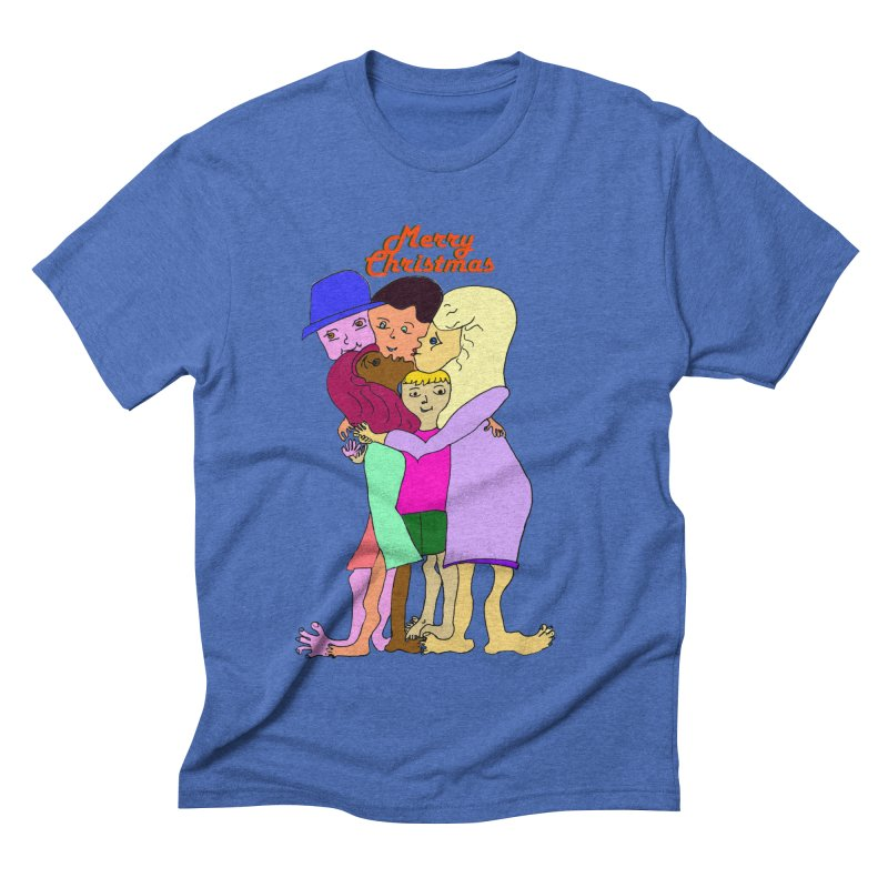 Family Christmas Men's T-Shirt by Darabem's Artist Shop. Darabem Collection