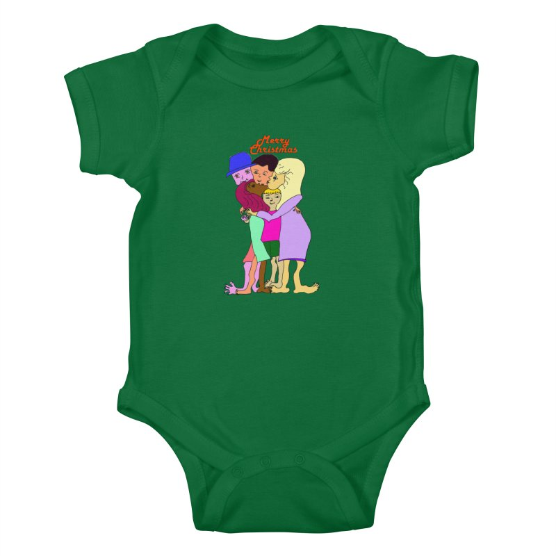 Family Christmas Kids Baby Bodysuit by Darabem's Artist Shop. Darabem Collection