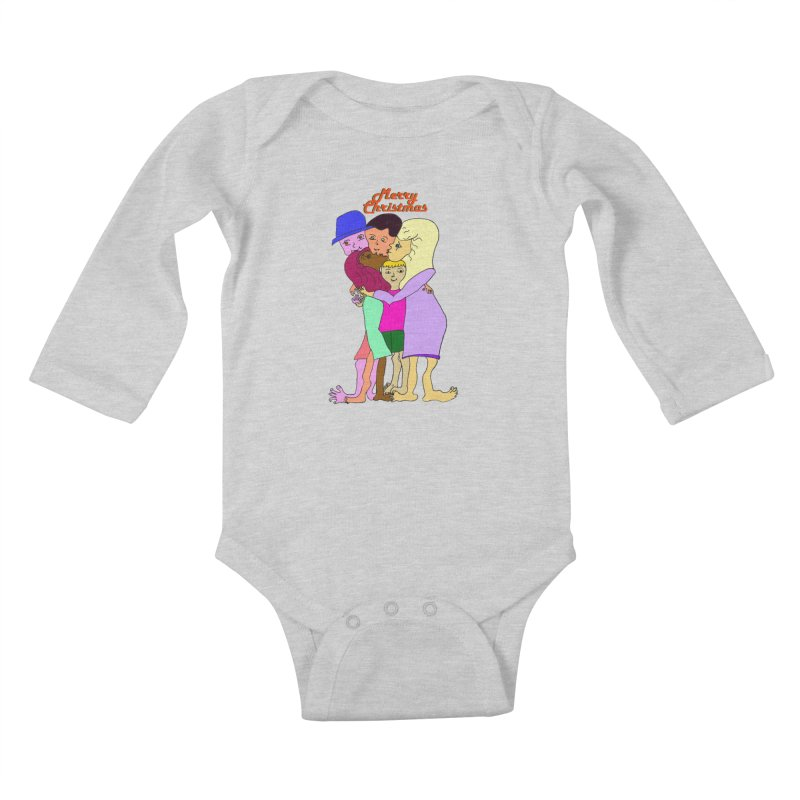 Family Christmas Kids Baby Longsleeve Bodysuit by Darabem's Artist Shop. Darabem Collection