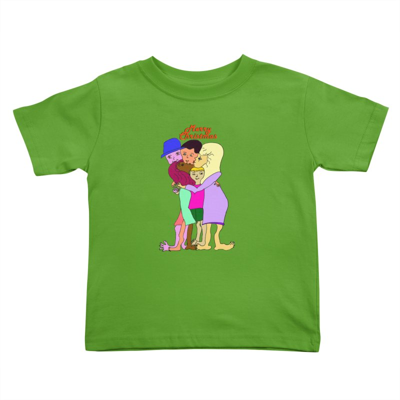 Family Christmas Kids Toddler T-Shirt by Darabem's Artist Shop. Darabem Collection